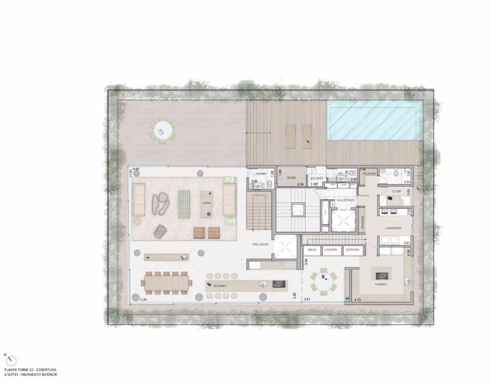Cobertura Duplex  Pav Inferior  - 683 m²