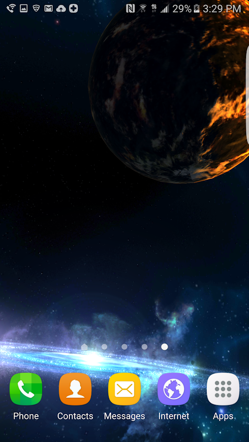 3D Galaxies Exploration LWP Screenshot 5