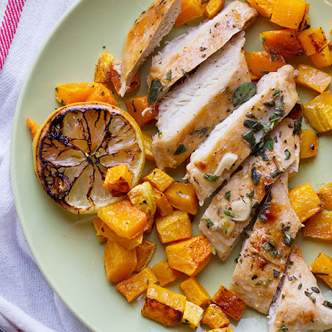 Easy Lemon Chicken with Butternut Squash