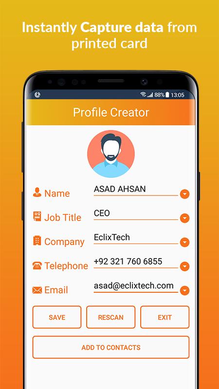 Business Card Scanner & Reader - Free Card Reader Screenshot 3