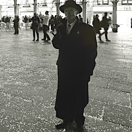 Stranger in the Night. by Marcel Cintalan - People Portraits of Men ( venezia, cigar, night, portrait of man,  )