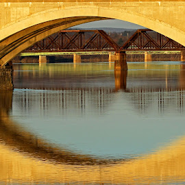 Memorial Bridge by Steve Shelasky - City,  Street & Park  Street Scenes