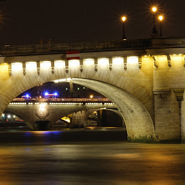 Le Pont Neuf by Loic Rathscheck - Buildings & Architecture Bridges & Suspended Structures ( paris, pont neuf, night, historical, bridge, bridges, city at night, street at night, park at night, nightlife, night life, nighttime in the city )