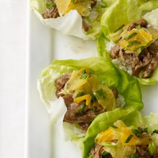 Slow Cooker Balsamic-Ginger Chicken Lettuce Cups