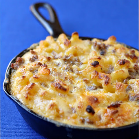 Breakfast Macaroni and Cheese Casserole Extra Cheesy