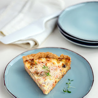 Blue Cheese And Salmon Quiche