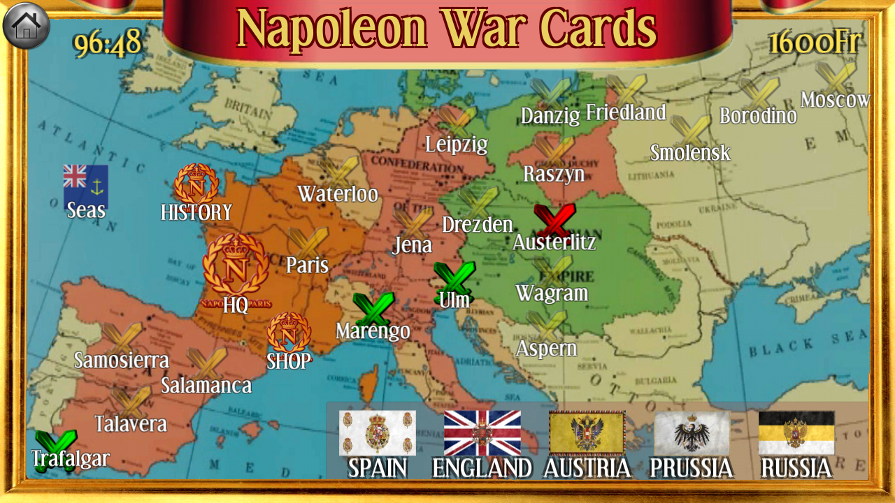 Napoleon War Cards Screenshot 7