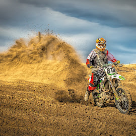 Dust storm by Thomas Dilworth - Sports & Fitness Motorsports ( motocross, racing, moto, dirtbike, motorcycle )