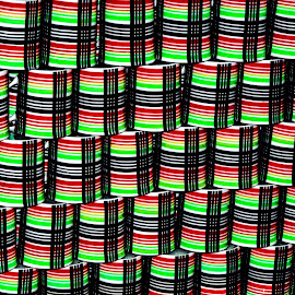 Colored mugs by Pravine Chester - Abstract Patterns ( abstract, patterns, photograph, abtract art )