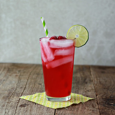 Iced Raspberry Green Tea Limeade