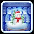 Live Christmas Snow Keyboard Theme