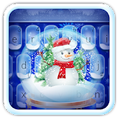 Live Christmas Snow Keyboard Theme