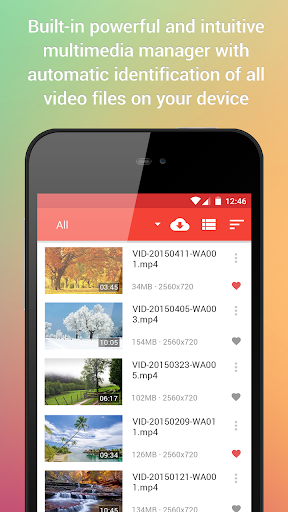 Video Player for Android screenshot 1