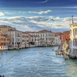 Grand Canal, Venice by Cristian Peša - City,  Street & Park  Vistas ( grand canal, venice, sea, historic district, boat )