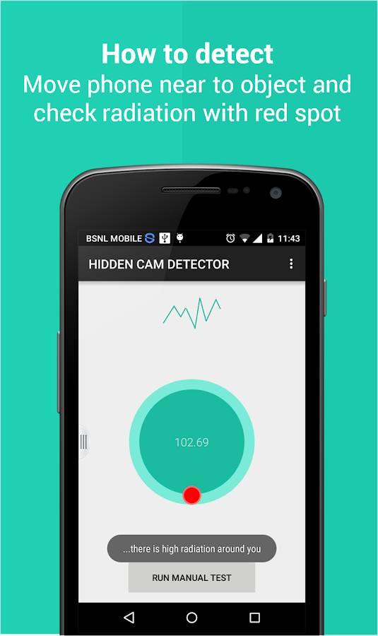 Hidden Camera Detector AdsFREE Screenshot 2
