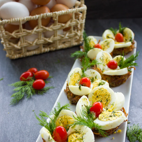 Easter Egg Tart Potato Nests