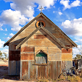 Out Back Church by Cyril Head - Buildings & Architecture Places of Worship ( church, pwcdetails, old building, tin, worship )