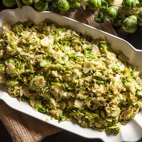 Sautéed Brussels Sprouts with Fried Capers