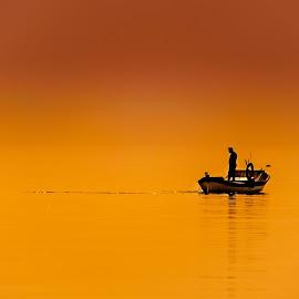 Alone by Murat Besbudak - Transportation Boats