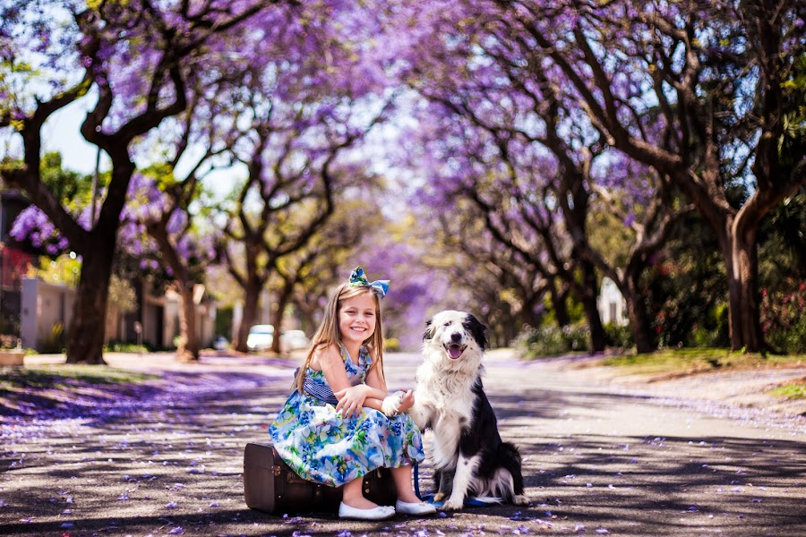 A little lady and her best friend by Heitlé Booysen - City,  Street & Park  Street Scenes