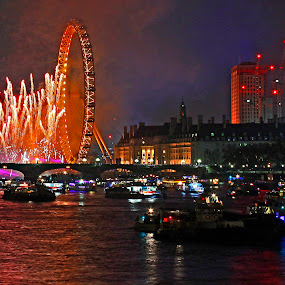 Flaming wheel by Wilson Beckett - Public Holidays New Year's Eve (  )