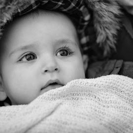 Harrison by Dan Horton-Szar ARPS - Babies & Children Babies ( monochrome, black and white, infant, baby, portrait )