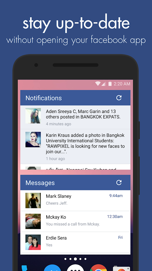 Swipe Widget for Facebook BETA Screenshot 1