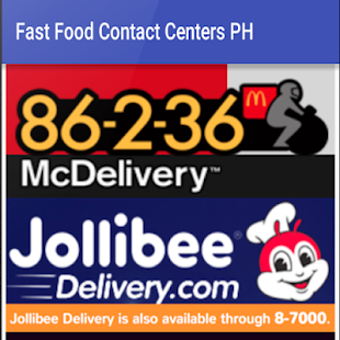 Fast Food Hotlines Philippines - screenshot