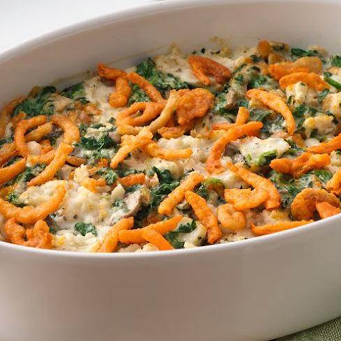 Potato-Spinach Swirl Casserole