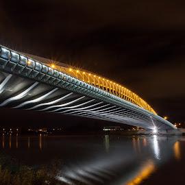 Troja bridge II by Radek Lauko - Buildings & Architecture Bridges & Suspended Structures ( illuminated, night photo, night photography, night scene, architecture, bride, prague )