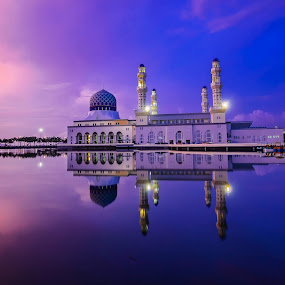Floating Mosque by None 5999 - Buildings & Architecture Places of Worship ( building, lanscape, architecture, panorama, places of worship )