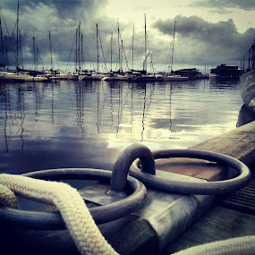 Port of Helsingborg by Julija Moroza Broberg - Instagram & Mobile Android ( thunder, port, clouds, harbour, boats, yacht, reflections, boat, sun, yachts, macro, sky, sunset, weather, town )