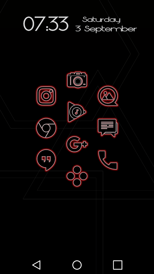 Glowist Redish - Icon Pack Screenshot