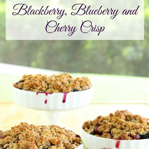 Gluten-Free Blackberry, Blueberry and Cherry Crisp