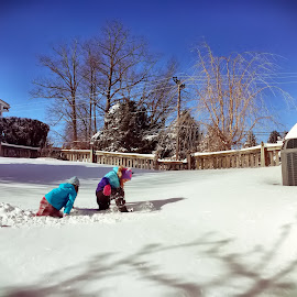 Snow Day by Chris Montcalmo - Babies & Children Children Candids ( playing, winter, outdoors, snow, kids, recreation )