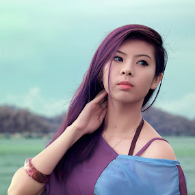 by Juanis Attau - People Portraits of Women ( sabah beauty, beautiful lady, diva false color )