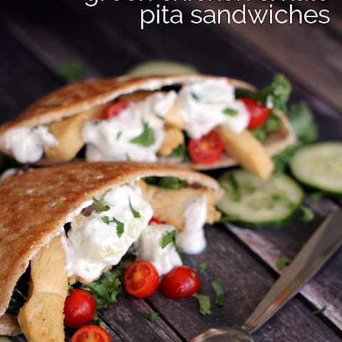 Greek Chicken and Kale Pita Sandwiches
