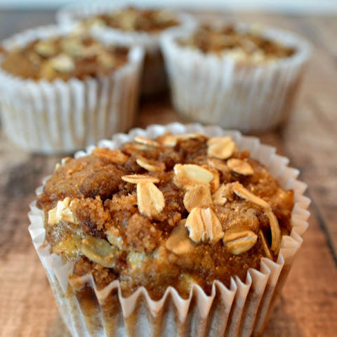Oatmeal Raisin Apple Muffins