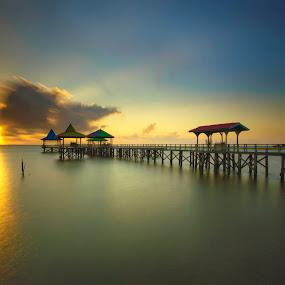 by Van Condix - Landscapes Sunsets & Sunrises ( silent, port, beach, sunrise,  )