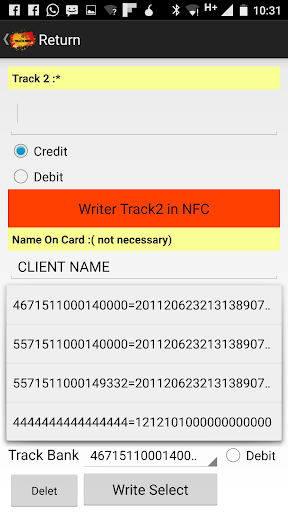 Track2NFC Mult - Android 6+ - screenshot