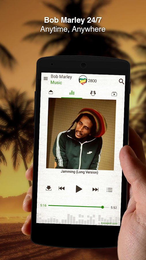 Bob Marley Official Music Screenshot