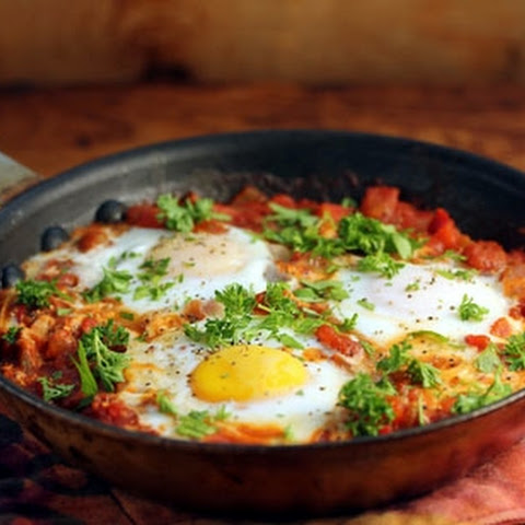 Eggs In Fiery Tomato Sauce