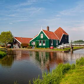 Dream by Esteban Rios - City,  Street & Park  Vistas ( holland landscape house lake )