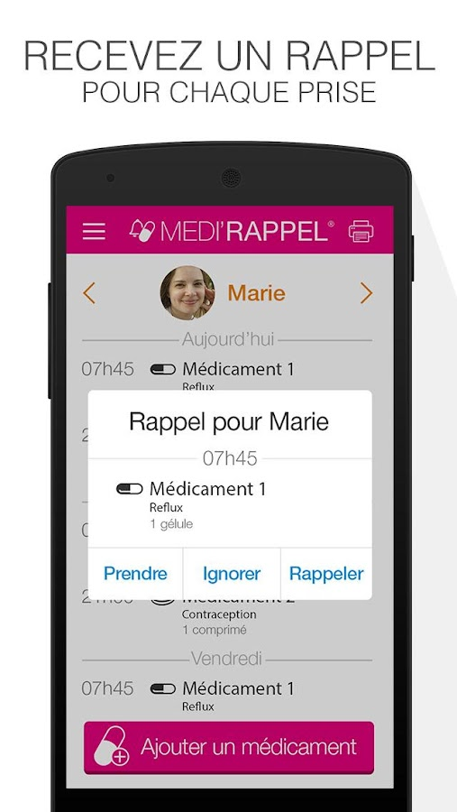 Medi'Rappel Screenshot 1