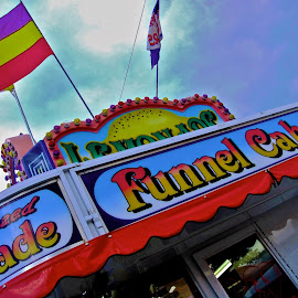 Funnel Cakes by Fraya Replinger - City,  Street & Park  Amusement Parks ( carnival, colorful, food, fair, finnel cakes )