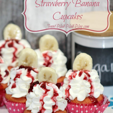 Strawberry Banana Cupcakes