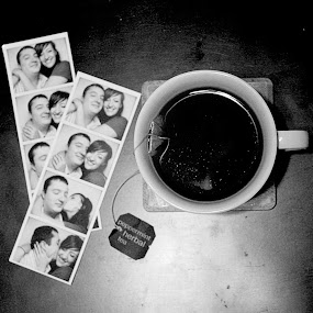 peppermint tea with a side of nostalgia please by Autumn Horton - Food & Drink Alcohol & Drinks ( cup, b&w, black and white, coffee, white, peppermint, tea, photo, booth, and, photos, photobooth, herbal, teacup, black )