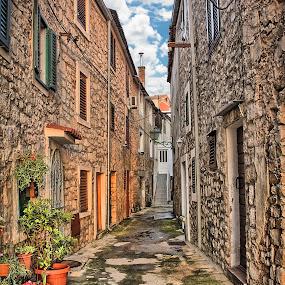 Pirovacka kala by Branko Meic-Sidic - City,  Street & Park  Street Scenes ( hdr, beautiful, street, croatia, stonehouses, pirovac )