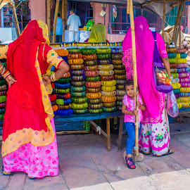 colorful attire  by Kapeesh Gaur - City,  Street & Park  Street Scenes ( colors, rajasthan, india, bangles, street photography )