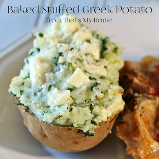 Baked Stuffed Greek Potatoes
